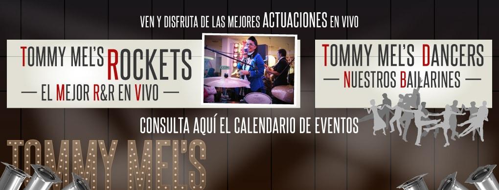 �Disfruta de las mejores actuaciones en vivo y espect�culos en Tommy Mel�s!